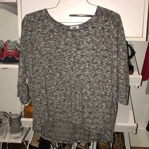 gray old navy top